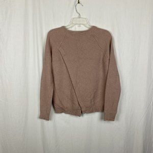 Madewell Dusty Pink Cotton Blend Sweater Small